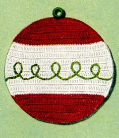 Holiday Pot Holders crochet pattern from Pot Holders, originally published by American Thread Company, Star Book No. 101, from 1953.