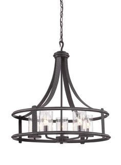 Designers Fountain 87585 Palencia 5 Light 1 Tier Chandelier Artisan Pardo Wash Indoor Lighting Chandeliers  sc 1 st  Pinterest & The transitional Goliad lighting collection by Sea Gull Lighting has ...
