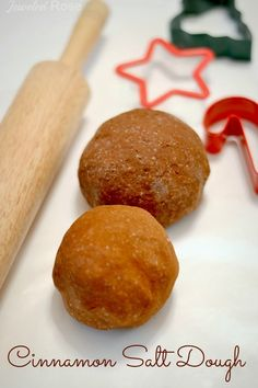 Cinnamon Salt Dough - this recipe is so easy, requires NO COOKING, and produces amazingly scented cinnamon ornaments