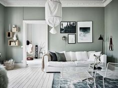 Green wall - Flexa - Slightly Sage - Mixed colors Collection living room - Woonkamer inspiratie -