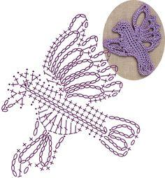 No.72 Songbird Lace Crochet Motifs / 새모양 모티브도안