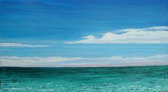 Navarre Beach Original Acrylic Ocean Painting Free Shipping. via Etsy.