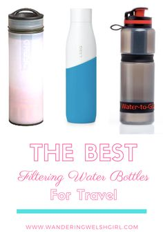 Reduce your plastic use with a filtering water bottle but which one is best? I weigh up the pros and cons of the top filtered water bottles for travel and hiking #filteredwaterbottle #travelwaterbottle Packing Tips For Travel, Travel Advice, Travel Essentials, Travelling Tips, Packing Lists, Travel Items, Travel Gifts, Travel Products, Paris Travel