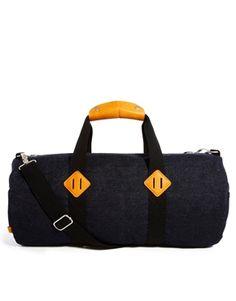 Image 1 ofASOS Denim Barrel Bag
