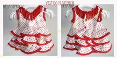 MadAboutSewing: Vestido Flamenca (bebé 3 meses) - 1º PARTE-