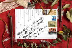 In Part I of this series, you learned how to make two types of quick envelope embellishments. Today's post concludes the series with two more ideas! Hand Lettering Envelopes, Addressing Envelopes, Calligraphy Letters, Simple Lettering, Postman's Knock, Christmas Envelopes, Hand Drawn Cards, Envelope Art, Scrapbook