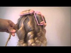 How to use sponge rollers for spiral curls. This us a great tutorial. AA