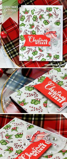 Stamp beautiful Christmas pattern using Simon Says Stamp Advent Holiday Icons stamp set. For details and video tutorial, please visit  http://www.yanasmakula.com/?p=56144