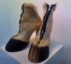 """A list of 10 crazy shoes and weird shoes, including """"pimp"""" shoes, banana shoes, and hoof shoes! Crazy Shoes, Me Too Shoes, Weird Shoes, Cosplay, Hoof Shoes, Women's Shoes, Fab Shoes, Moda Animal, Poorly Dressed"""
