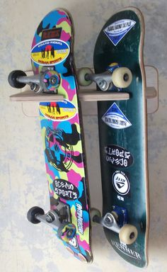 Skateboard rack wall mounted uk.picclick.com
