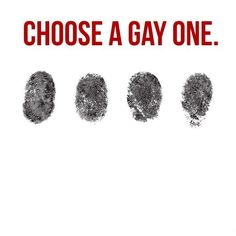 Choose a gay one #equality #gay #lgbt* #pride On a side note does the last one on the right look like it's wearing a bow tie and vest?