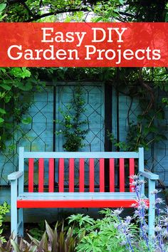 Try these easy garden projects that won't break the bank.