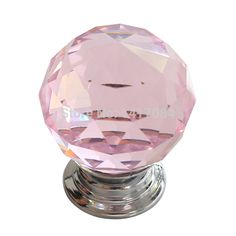 Crazy Genie Diamond Shaped Clear Glass Crystal Cabinet Pull Drawer Handle Kitchen Door Home Furniture Knob Diameter (Pink) Drawer Knobs, Drawer Pulls, Door Knobs, Kitchen Cabinet Handles, Kitchen Cabinet Doors, Furniture Handles, Home Furniture, Wardrobe Handles, Clear Glass