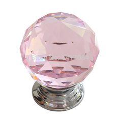 Nuevo 4 unids diámetro 30 mm Pink Glass Crystal perillas de los cajones del armario manijas del gabinete de cocina tiradores de las puertas Hardware para mobiliario en Manijas y Pomos de Mejoras para el Hogar en AliExpress.com | Alibaba Group