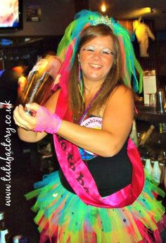 neon hen party bride to be
