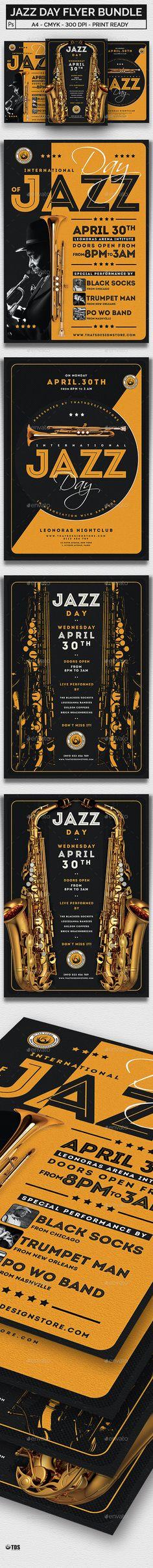 Jazz Day #Flyer Bundle - Concerts Events