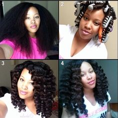 Flexi-rods on stretched hair by @eclark6.....love it! #bighairdontcare