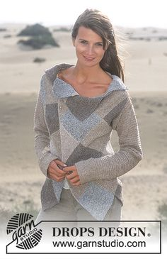 Free Pattern Drops Design in Silke Tweed