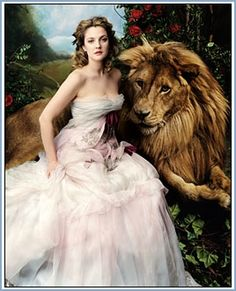 Drew Barrymore: Princess Belle, Beauty and the Beast: Vogue April 2005 issue, photography Annie Leibovitz