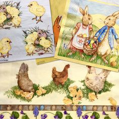 Set of 4(four)different napkins ,theme Easter ,for decoupage, decoupage under glass, mixed media, scrapbooking and other art and crafts door Dalilasdecoupage op Etsy