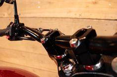 Fatbar handlebar for Triumph Bonneville Newchurch Motor Cafe Racer, Triumph Bonneville, Can Opener, Workshop, Atelier, Work Shop Garage