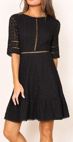 Georgine dress in black