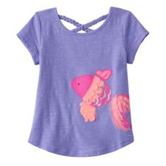Toddler Girl Jumping Beans Braided Textured Graphic Tee