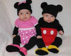 Precious Minnie Mouse OR Mickey Mouse Crocheted Baby Booties-Great Gift for Girls AND Boys  sc 1 st  Pinterest & Boy/Girl Twin Halloween costumes: Dorothy and The Cowardly Lion ...