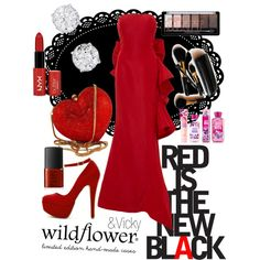 "Set on polyvore.com #11 ""Red is the new black"""