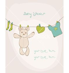 Baby shower card with place for your text in vector 606353 - by woodhouse84 on VectorStock®
