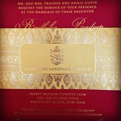#letterpress #weddinginvitation #southasian #red #gold