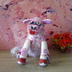 Hand knitted sheep toy soft toy plush toy by EfisWhimsicalCrafts
