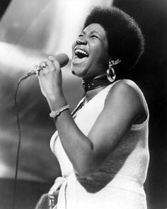 The Queen of Soul herself, Aretha Franklin, in her 70's Afro period.
