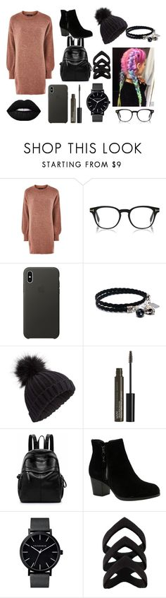 """""""Walking Alone"""" by emma-marais ❤ liked on Polyvore featuring Topshop, Apple, Miss Selfridge, NYX and Skechers"""