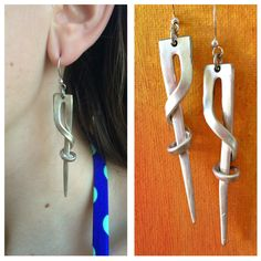 Image of Twisted Fork Tine Earrings