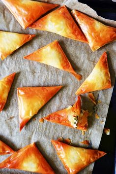 Clouds » Ricotta and Spinach Triangles