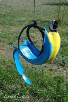 Cantinho craft da Nana: arara de pneu- decoração de jardins