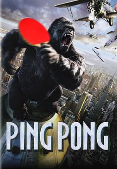 Epic poster for a ping pong tournament