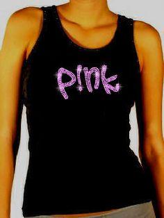 PinkP!NKFunhouseConcertT-shirt(Rhinestones)::Music-Concert::Stylehippo|Rhinestone...