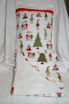 Christmas Travel Pillow Blanket/Toddler Child/Flannel Cotton/Baby Gift/Grinch