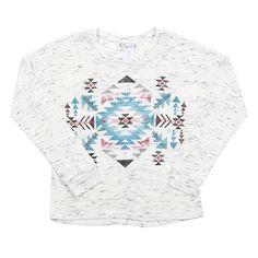 Shyanne® Girls Aztec Print Long Sleeve Shirt