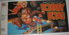 MILTON BRADLEY: 1982 Donkey Kong Game #Vintage #Games