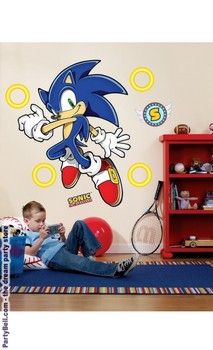 Sonic the Hedgehog Giant Wall Decals $30.40