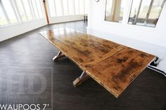 Reclaimed Wood Table by HD Threshing Floor Furniture of Cambridge, Ontario / www.hdthreshing.com