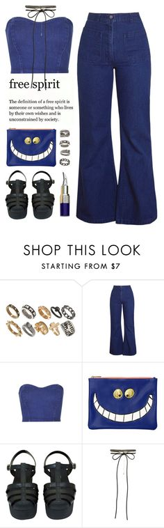 """• Baddie from the 70s look"" by queenbrittani ❤ liked on Polyvore featuring ASOS, Topshop, Essentiel, Chanel and New Look"