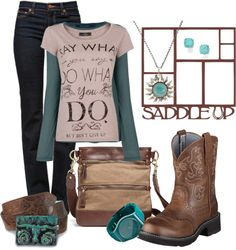 """""""Day at the Barn #8"""" by sunnykansas on Polyvore"""