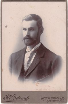Handsome Victorian Gentleman by Frederick William Edwards of Auckland, New Zealand Antique Photos, Vintage Pictures, Vintage Photographs, Old Pictures, Old Photos, Victorian Gentleman, Vintage Gentleman, Victorian Men, Beauty Photography