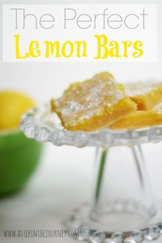 The Perfect Lemon Bars