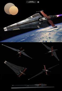Star Wars. Alvar's Ship - Redeemer/Heavy Fighter