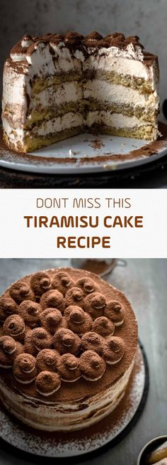 This super delicious Tiramisu Cake recipe comes with detailed step-by-step photos and video. Tiramisu Cake Recipe - Also The Crumbs Please Just Desserts, Delicious Desserts, Dessert Recipes, Funfetti Kuchen, Dessert Oreo, Tiramisu Cake, Recipe For Tiramisu, Raspberry Tiramisu, Let Them Eat Cake